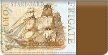 Tall Ships Checkbook Cover