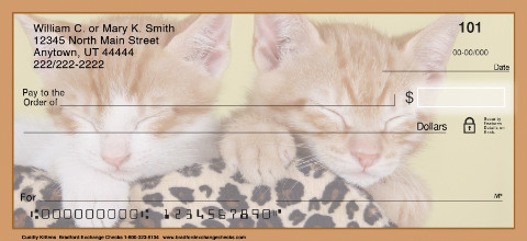 Cuddly Kittens Personal Checks