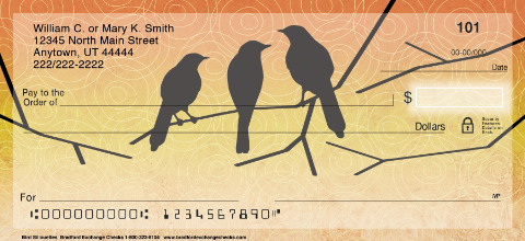 Bird Silhouettes Personal Checks