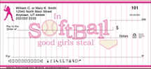 Softball Diva Personal Checks