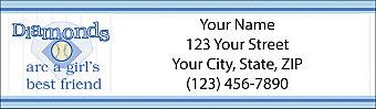 Softball Diva Return Address Label