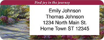 Life is a Journey Return Address Label