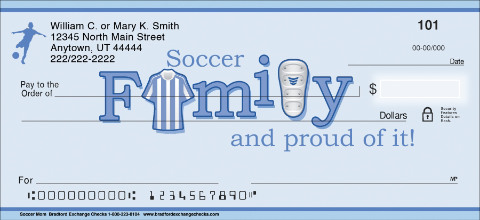 Soccer Mom Personal Checks