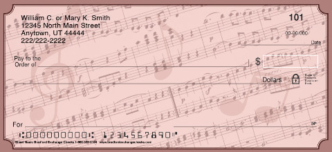 Sheet Music Personal Checks