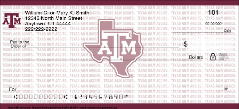 Texas A&M University Personal Checks