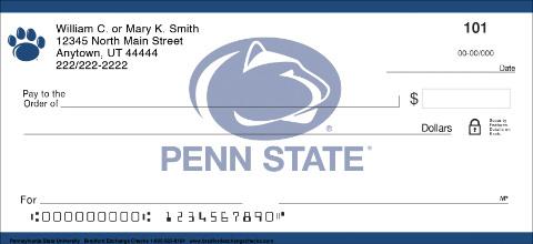 Pennsylvania State University Personal Checks
