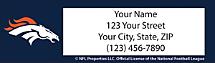 Denver Broncos NFL Return Address Label