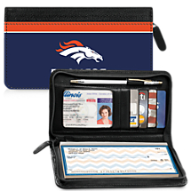 Genuine Leather Denver Broncos Zippered Wallet Celebrates Your Favorite Professional Football Team
