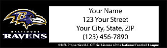 Baltimore Ravens NFL Return Address Label