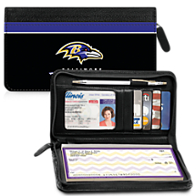 Leather Baltimore Ravens Zippered Wallet For Your Favorite NFL Football Team