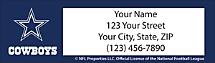 Dallas Cowboys NFL Return Address Label