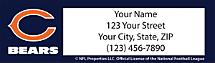 Chicago Bears NFL Return Address Label