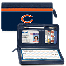 Leather Chicago Bears Zippered Wallet Celebrates Your NFL Football Team