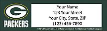 Green Bay Packers NFL Return Address Label