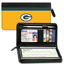 Leather Green Bay Packers Zippered Wallet For Your NFL Football Team