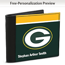 Show Your Favorite Football Team Loyalty and Keep Cards Safe with this Leather-Accented RFID Wallet!