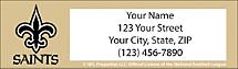 New Orleans Saints NFL Return Address Label