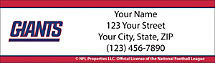 New York Giants NFL Return Address Label