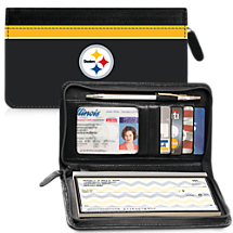Leather Pittsburgh Steelers Zippered Wallet For Your Favorite NFL Team