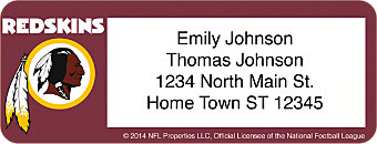 Washington Redskins NFL Return Address Label