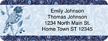 Indigo Garden Return Address Label