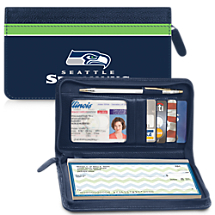 Leather Seattle Seahawks Zippered Wallet For Your Favorite NFL Team