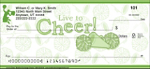 Live to Cheer Personal Checks