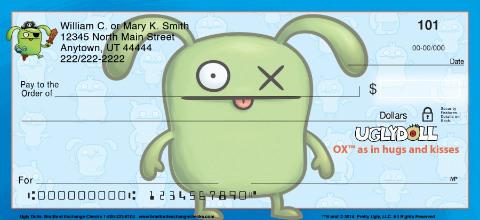 Ugly Dolls Personal Checks