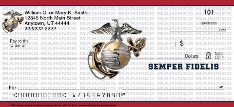USMC Semper Fidelis Personal Checks