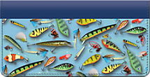 Fishing Lures Checkbook Cover
