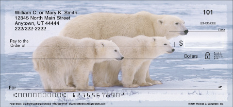 Polar Bears Personal Checks