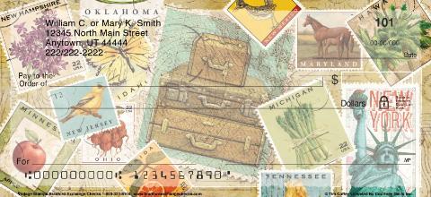 Vintage Stamps Personal Checks