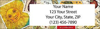 Vintage Postage Return Address Label