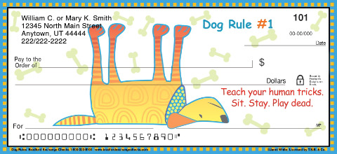 Dog Wisdom Personal Checks
