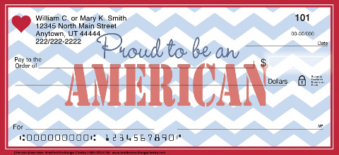 Chevron Americana Personal Checks