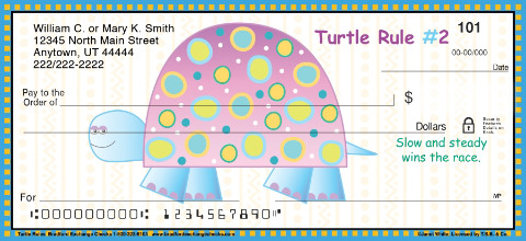 Turtle Rules Personal Checks