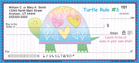Turtle Rules Personal Checks