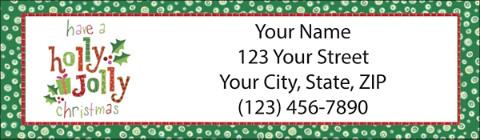 Christmas Return Address Labels.Very Merry Christmas Return Address Label