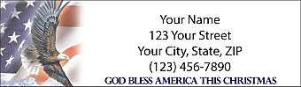 All American Christmas Return Address Label