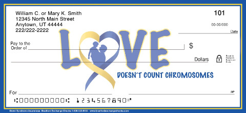 Down Syndrome Awareness Personal Checks
