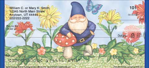 Garden Gnomes Personal Checks