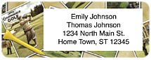 Vintage Golf Return Address Label
