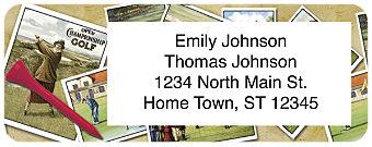 Vintage Golf Return Address Label