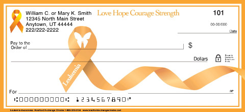 Leukemia Awareness Personal Checks