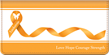 Leukemia Awareness Checkbook Cover