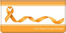 Leukemia Awareness Checkbook Cover