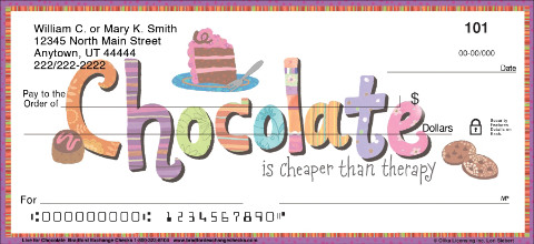 Live for Chocolate Personal Checks