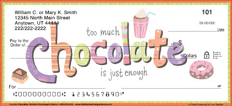 Live for Chocolate Personal Checks