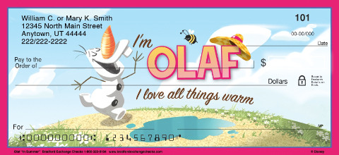 Olaf in Summer Personal Checks