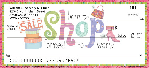 Born to Shop Personal Checks